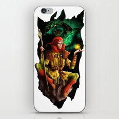 A wizard in the dark iPhone & iPod Skin