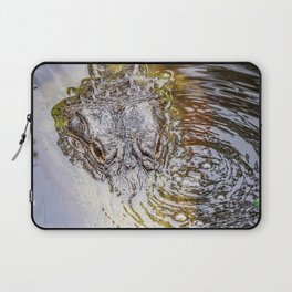 Gator Blowing Bubbles Laptop Sleeve