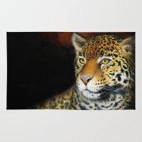 jaguar Area & Throw Rugs featuring Jaguar by Claudia Hahn