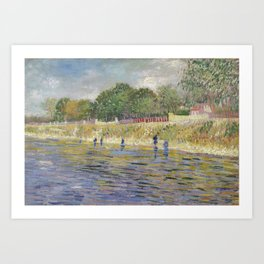 Bank of the Seine by Vincent van Gogh Art Print