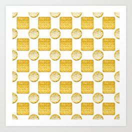 Savoury Biscuits Polka Dot Pattern Art Print