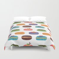 macarons Duvet Covers featuring Sweet Macarons by haidishabrina