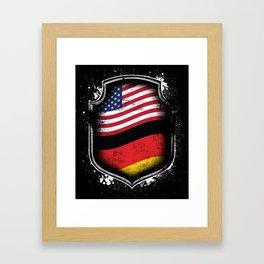 German American Flag Framed Art Print