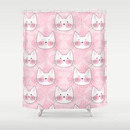 Little Girls Birthday Kitty Cats Shower Curtain
