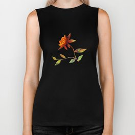 Sunflower Abstract Biker Tank