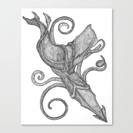 Whale Vs. Squid Canvas Print
