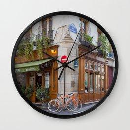 Cute Corners of Paris Wall Clock