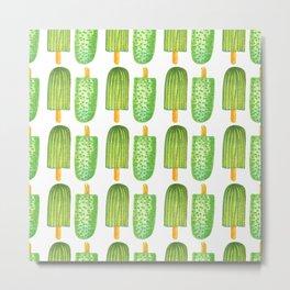 Cactus Popsicles Pattern #society6 #decor #buyart Metal Print