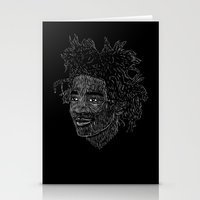 basquiat Stationery Cards featuring Basquiat by William