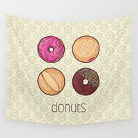 donuts Wall Tapestries featuring Donuts by Monstruonauta