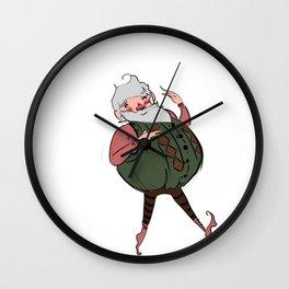 Chubby Santa Wall Clock