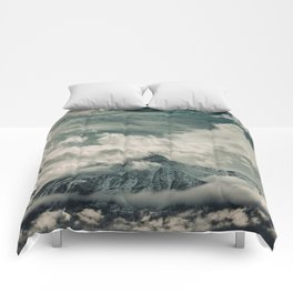 Cloud Mountain in the Canadian Wilderness Comforters