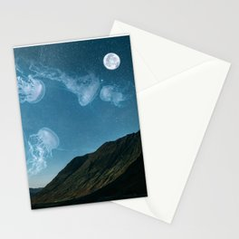 Let's swim to the moon Stationery Cards
