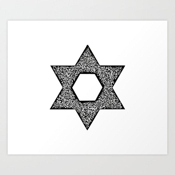 Star of David (Jewish star) Art Print
