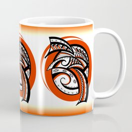Tribal Sunkist Orange Coffee Mug