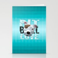 pit bull Stationery Cards featuring Pit Bull by Benjamin Ring