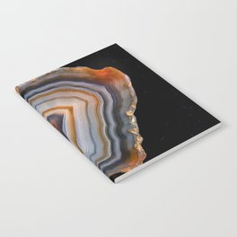 Layered agate geode 3163 Notebook