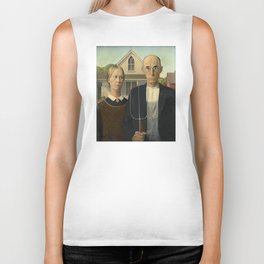 American Gothic by Grant Wood Biker Tank