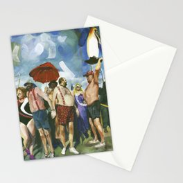 Penguin Plunge on a frigid New Year's Day, Jamestown, Winter 1999 Stationery Cards