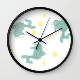 east meets beach Wall Clock