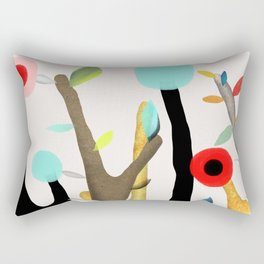 Woodland Poppy Botanical Rectangular Pillow