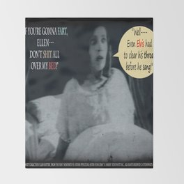 "'Ellen Hutter', FROM THE FILM "" Nosferatu vs. Father Pipecock & Sister Funk (2014)"" Throw Blanket"