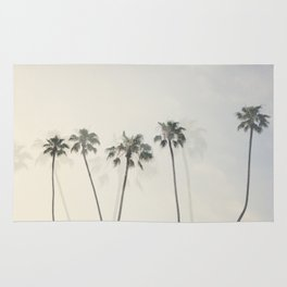 Double Exposure Palms 1 Rug