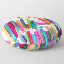 Colorful Stripes 5 Floor Pillow