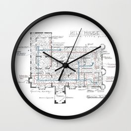 Haunting of Hill House Blueprint Wall Clock