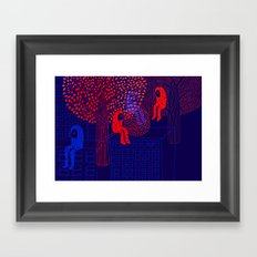 Forrest people Framed Art Print