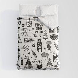 Wild And Free, Scandinavian Kids Comforters
