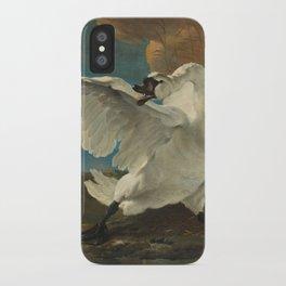 The threatened swan - Jan Asselijn (1650) iPhone Case