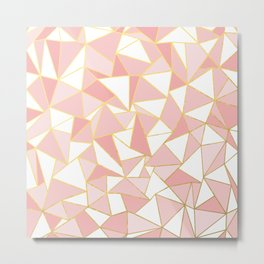 Ab Out Blush Gold 2 Metal Print