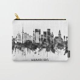 Hamburg Germany Skyline BW Carry-All Pouch