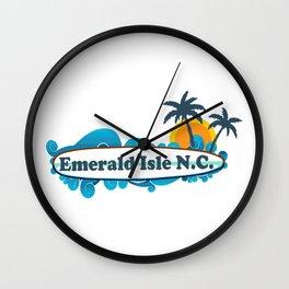 Emerald Isle - North Carolina. Wall Clock