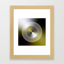 Serene Simple Hub Cap in Sepia Framed Art Print