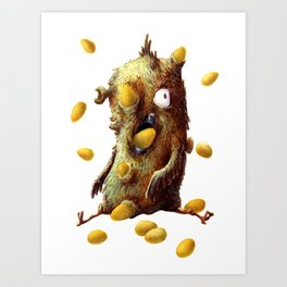 THE HEN WITH GOLDEN EGGS Art Print