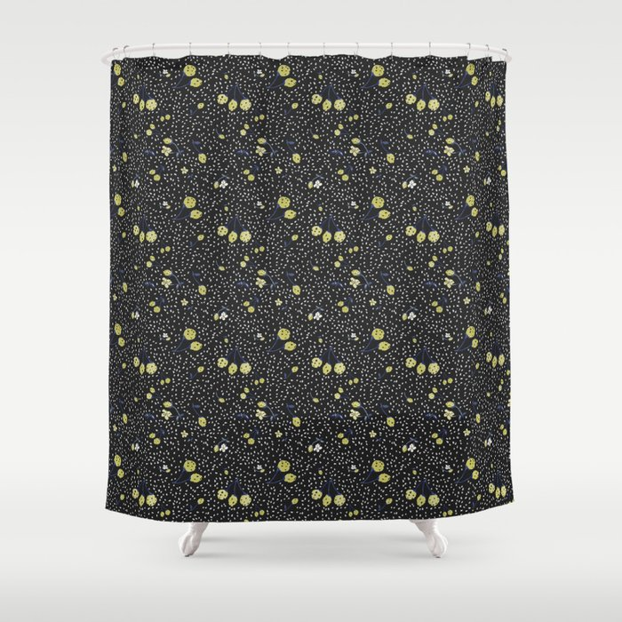 Charcoal Strawberry Shower Curtain