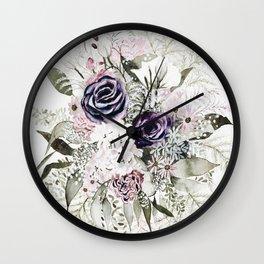 Purple Bouquet Wall Clock