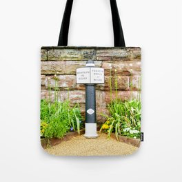 Canal marker post Tote Bag