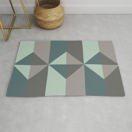 Cast Light in Charcoal and Green Rug