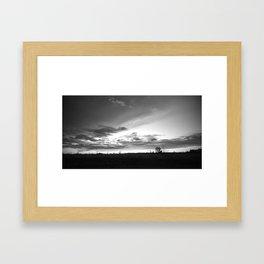 Sunset Commerce City Framed Art Print