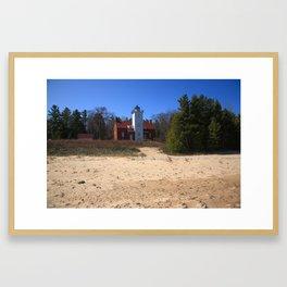 Lighthouse - 40 Mile Point, Michigan 2010 Framed Art Print