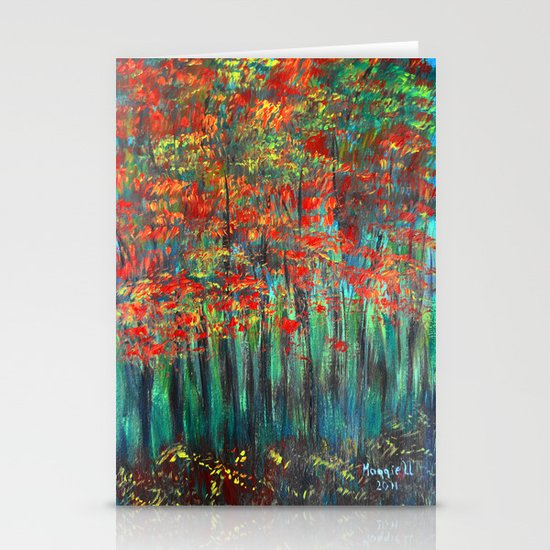 Forest Abstract Stationery Cards