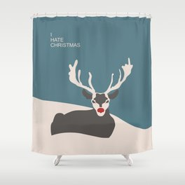 I hate Christmas Shower Curtain