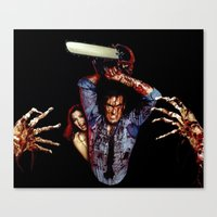 evil dead Canvas Prints featuring evil dead  by Official Nicolas Cage Cats