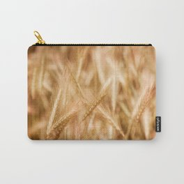 Golden ripe cereal ears grow on field Carry-All Pouch