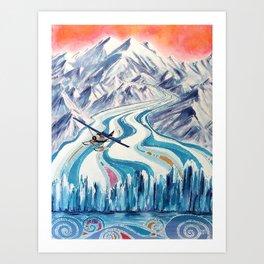 Regal Air Alaska Art Print