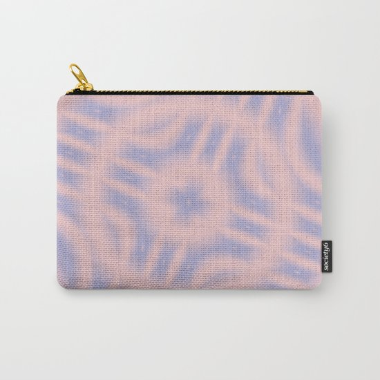 Spacial Coordinates in Rose Quartz and Serenity Carry-All Pouch