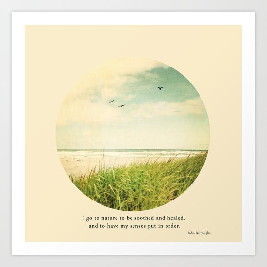 I go to nature Art Print